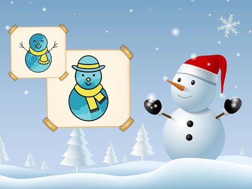 Happy Snowman Coloring